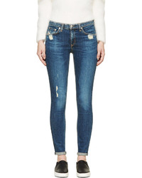 dunkelblaue enge Jeans mit Destroyed-Effekten von Rag and Bone