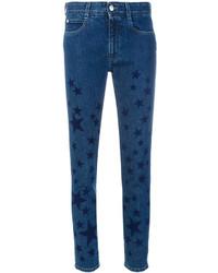 dunkelblaue enge Jeans mit Sternenmuster von Stella McCartney