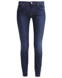 dunkelblaue enge Jeans von 7 For All Mankind