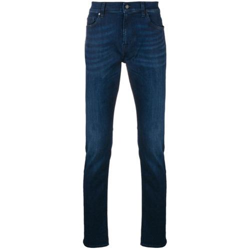 dunkelblaue enge Jeans von 7 For All Mankind