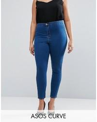 dunkelblaue enge Jeans von Asos