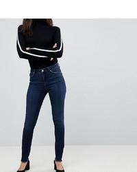 dunkelblaue enge Jeans von Asos Tall