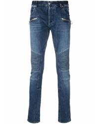 dunkelblaue enge Jeans von Balmain