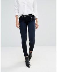 Dunkelblaue Enge Jeans von Blank NYC