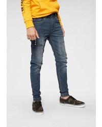 dunkelblaue enge Jeans von Buffalo