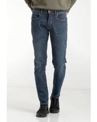 dunkelblaue enge Jeans von Crosshatch