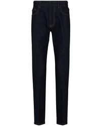 dunkelblaue enge Jeans von Ermenegildo Zegna