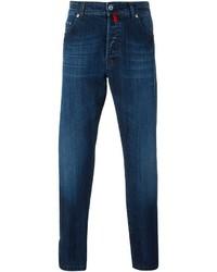 dunkelblaue enge Jeans von Kiton
