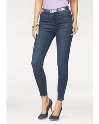 dunkelblaue enge Jeans von Lee