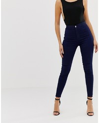 dunkelblaue enge Jeans von Liquor N Poker