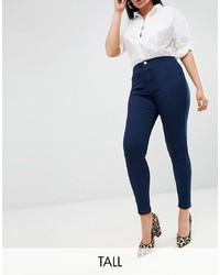 dunkelblaue enge Jeans von Missguided