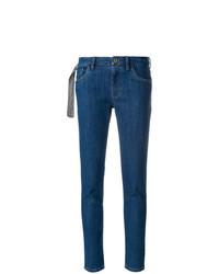 dunkelblaue enge Jeans von Miu Miu