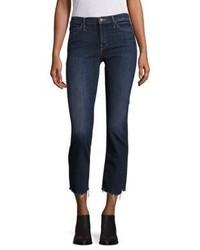 Dunkelblaue Enge Jeans von Mother