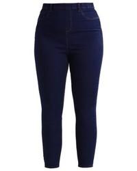 dunkelblaue enge Jeans von New Look
