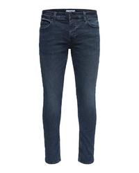 dunkelblaue enge Jeans von ONLY & SONS
