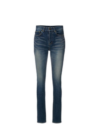 dunkelblaue enge Jeans von Saint Laurent