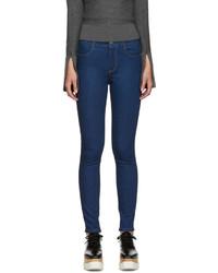 Dunkelblaue Enge Jeans von Stella McCartney