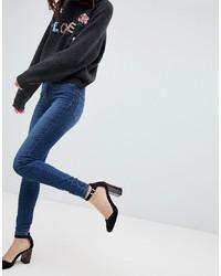 dunkelblaue enge Jeans von Vero Moda