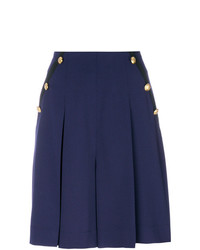 dunkelblaue Shorts mit Falten von Lanvin