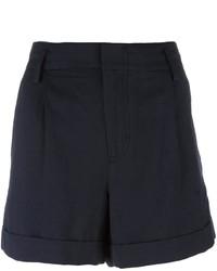 dunkelblaue Shorts mit Falten von Vince