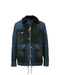 dunkelblaue Feldjacke aus Jeans