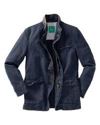 dunkelblaue Feldjacke aus Jeans von Schneiders Landart