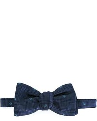 dunkelblaue geflochtene Seidefliege von Alexander McQueen