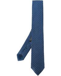 dunkelblaue geflochtene Seidekrawatte von Corneliani
