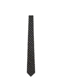 dunkelblaue geflochtene Seidekrawatte von Gucci