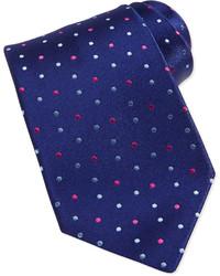 dunkelblaue gepunktete Krawatte