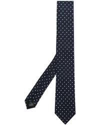 dunkelblaue gepunktete Krawatte von Dolce & Gabbana