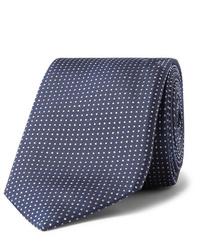 dunkelblaue gepunktete Krawatte von Hugo Boss