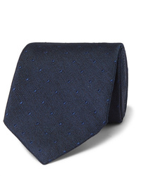 dunkelblaue gepunktete Krawatte von Tom Ford