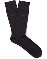 dunkelblaue gepunktete Socken von Hugo Boss
