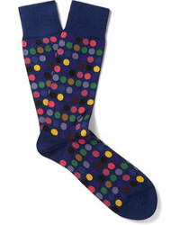 dunkelblaue gepunktete Socken von Paul Smith