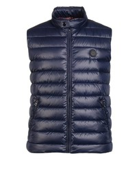 dunkelblaue gesteppte ärmellose Jacke von Big fashion