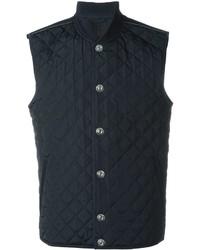 dunkelblaue gesteppte ärmellose Jacke von Emporio Armani