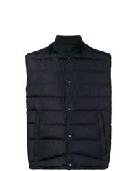 dunkelblaue gesteppte ärmellose Jacke von Prada
