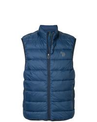 dunkelblaue gesteppte ärmellose Jacke von Ps By Paul Smith