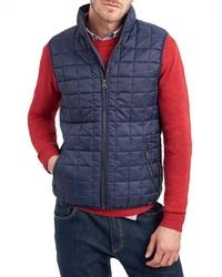 dunkelblaue gesteppte ärmellose Jacke von Tom Joule