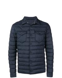 dunkelblaue gesteppte Shirtjacke von Herno