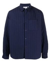 dunkelblaue gesteppte Shirtjacke von Kenzo
