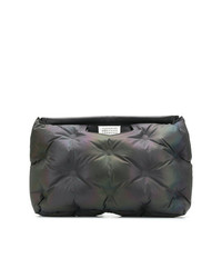 dunkelblaue gesteppte Shopper Tasche aus Segeltuch von Maison Margiela