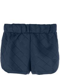 dunkelblaue gesteppte Shorts von adidas
