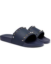 dunkelblaue Gummi Sandalen von Valentino