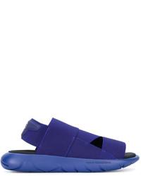 dunkelblaue Gummi Sandalen von Y-3