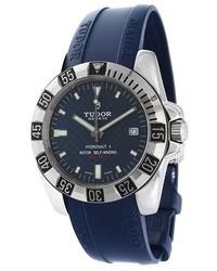 dunkelblaue Gummi Uhr von Tudor