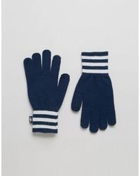 dunkelblaue Handschuhe von adidas