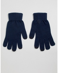dunkelblaue Handschuhe von ASOS DESIGN