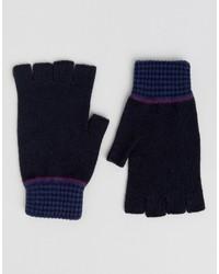 dunkelblaue Handschuhe von Ted Baker